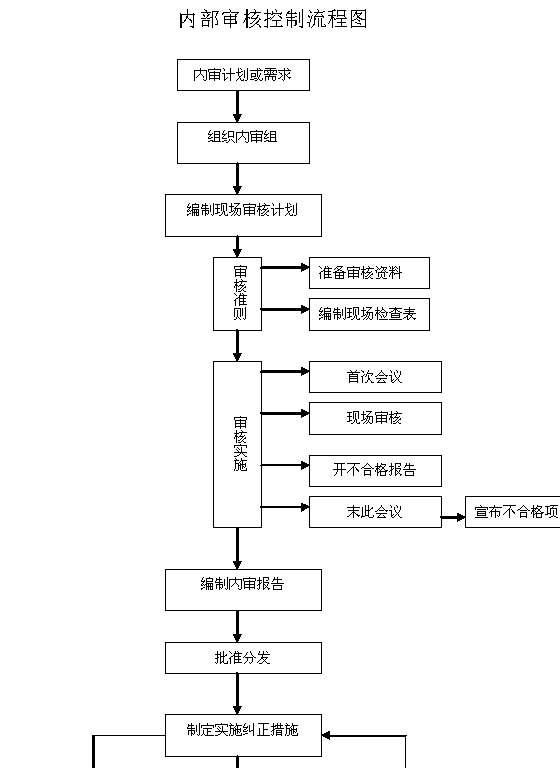 内部审核控制流程图(doc模板)